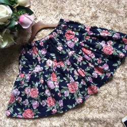 Pure floral skirt with maximum size S - XL