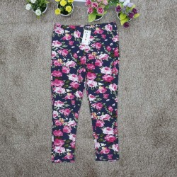 flower leggings long size-IH4