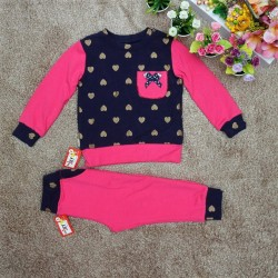 set of baby girl fish skin suit-B8666