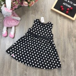 2-layer polka-dot skirt-V915125