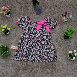 Short-sleeved flower shirt BG - A315735