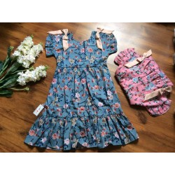 2-tier flower dress size 7 -10