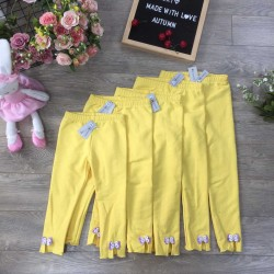 Fish skin leggings - yellow