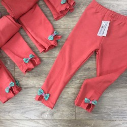 Fish skin leggings - pink