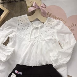Lace baby girl shirt