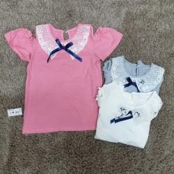 Lace-neck cotton shirt with shoulder-length lace big size 7 -10 - A4934