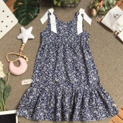 Armpit flower dress size 9 -12 - v7924
