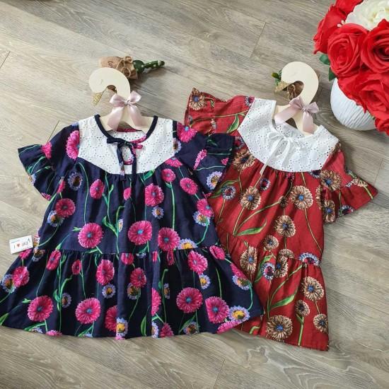 Váy hoa lụa đuôi cá - V50215