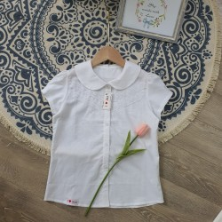 Lace school shirt - size 6-10 size 6-10