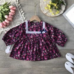 Babydoll dress with flowers size 2-6