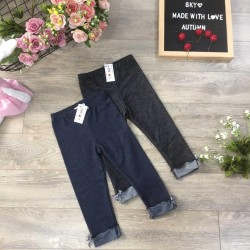 Jeans with bow tie - size 3-8