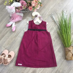 Velvet dress shape A- V86225