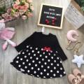 Váy hoa ren ngực xuân hè bé gái size 2-6  - VT2095